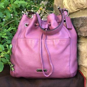 Coach Leather Rose (pinkish /Purple) Bucket Bag